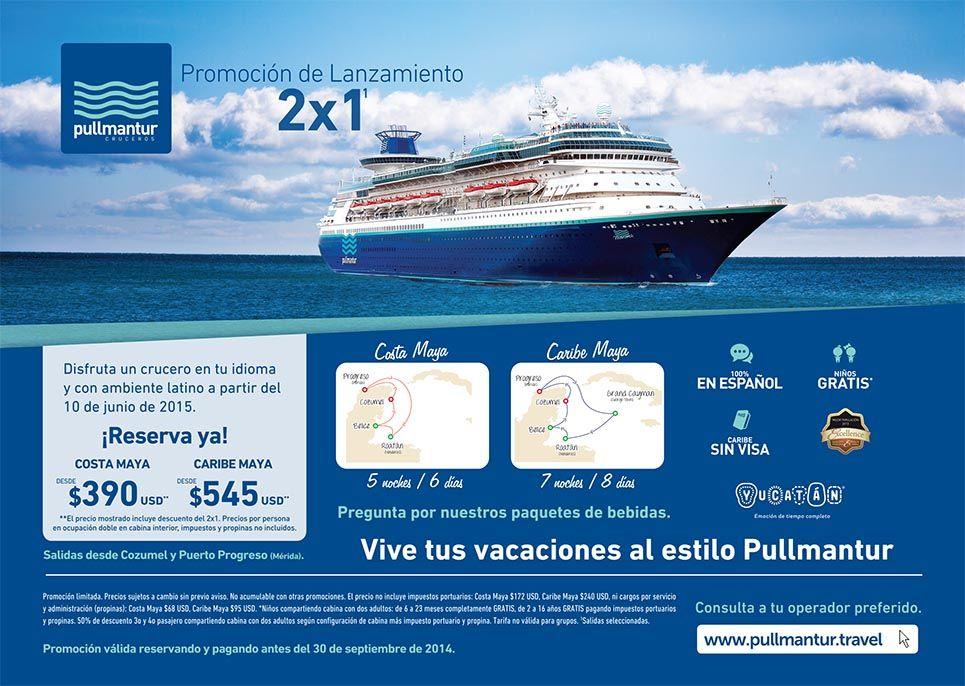 Pullmantur iniciar su temporada 2015 en yucat n invertour for Oficinas pullmantur
