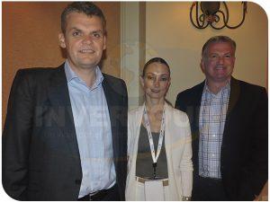 Stephen Shurrock, presidente de Travelport; Erika Moore, directora regional para América Latina y Bret Kidd, vicepresidente y director para las Américas
