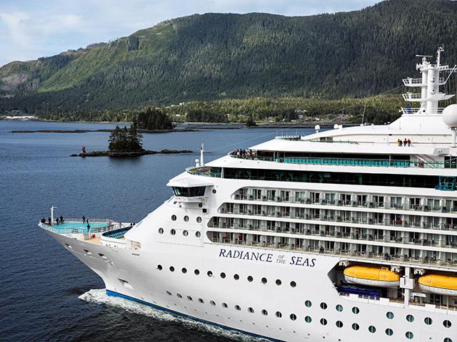 Radiance saling north of Ketchikan - Alaska Radiance of the Seas - Royal Caribbean International