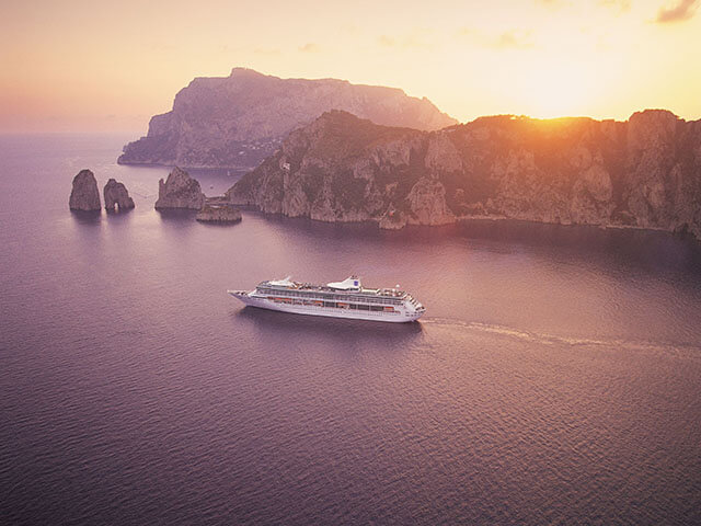 aerial, ship exterior,  ship or boat,  legend of the seas,  vision class, LG,  capri,