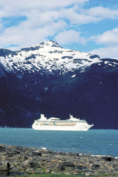 exterior side with snow capped mountains, vision of the seas, vi, ship, boat