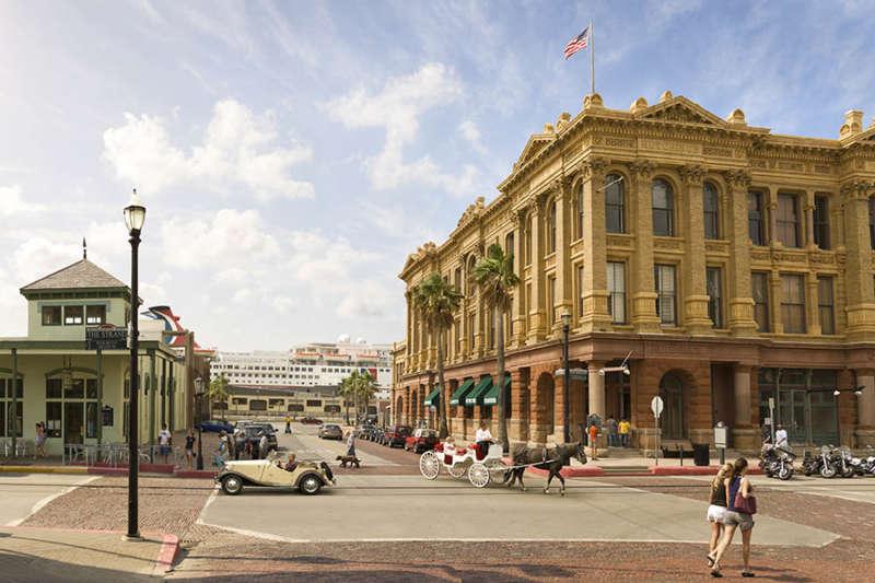 Downtown Galveston Strand