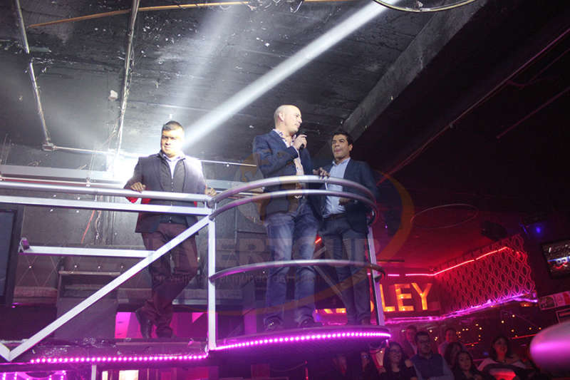 Jorge Flores,  Federico Monterrubio y Manuel Martínez