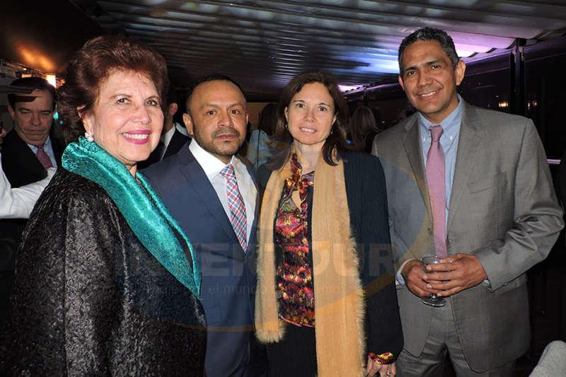 Yolanda Montes, Miguel Galicia, Cecilia Beltrame y Mauro Arredondo