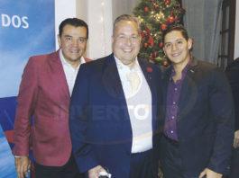 Mauricio González, Jorge Franz y Miguel Miranda