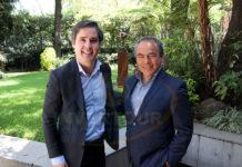 Frederico Ayala con Pedro Casique