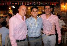 Federico Monterrubio, Luis Huerta y Jorge Flores