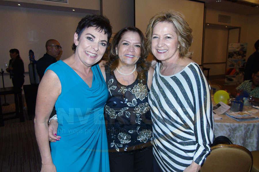 Toni Fernández, Lourdes Guajardo y Albertina Campdera