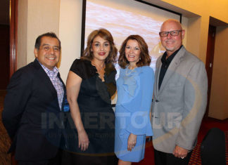 Raphael Paredes, Liz Vaca, Maria Gutierrez y Phil Hannes