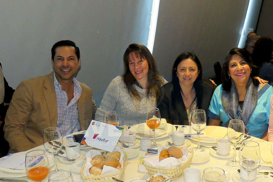 Gustavo Alpizar, Verónica Mittel, Claudia Garduño y Blanca Olivera