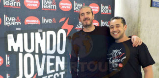 Jordi Llorens con Rubén Mora