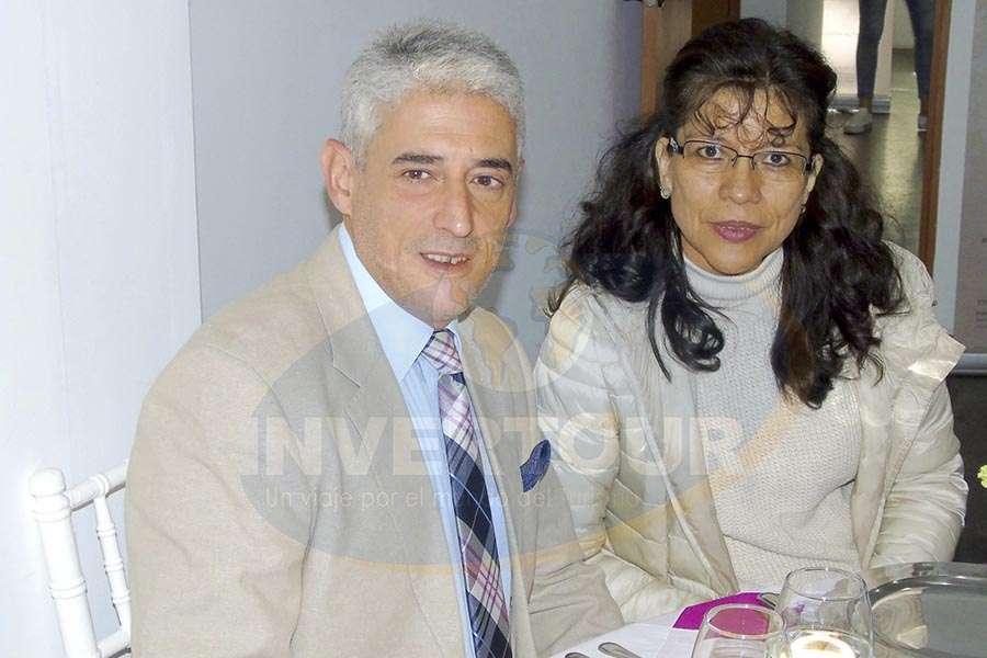 Gabriel Gallardo con Yolanda Colín