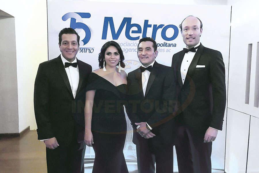 Giancarlo Mulinelli, Mariana Pérez, Edgar Solís y Anko van der Werff