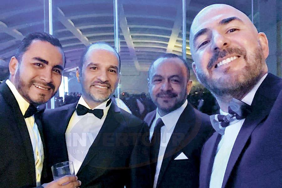 Carlos Romero, Federico Mainfelt, Miguel Galicia y Jorge Guerra