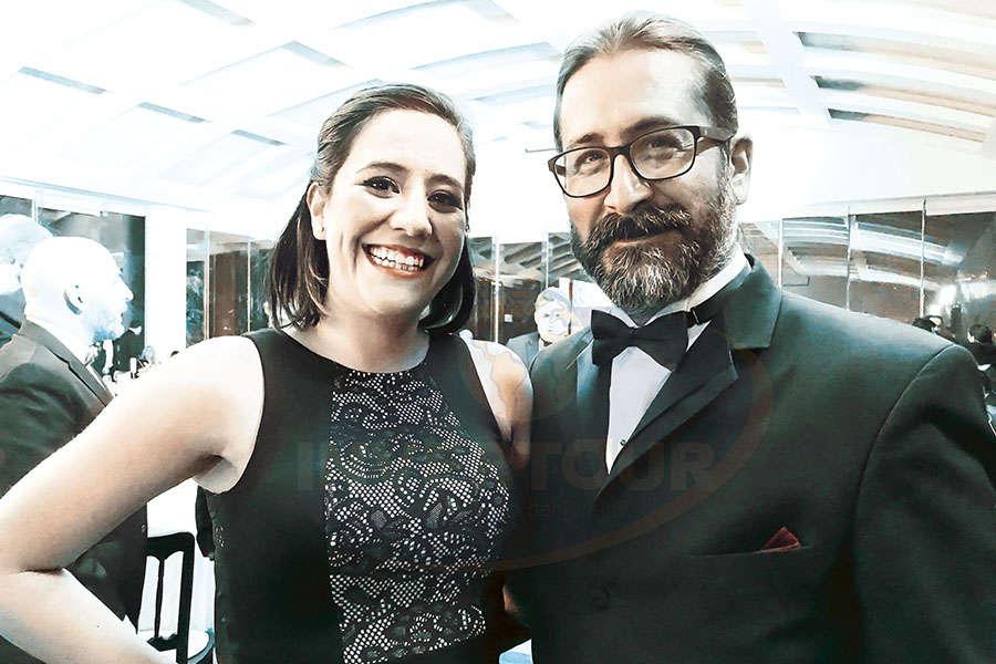 Mariana Briseño con Pedro Berruecos