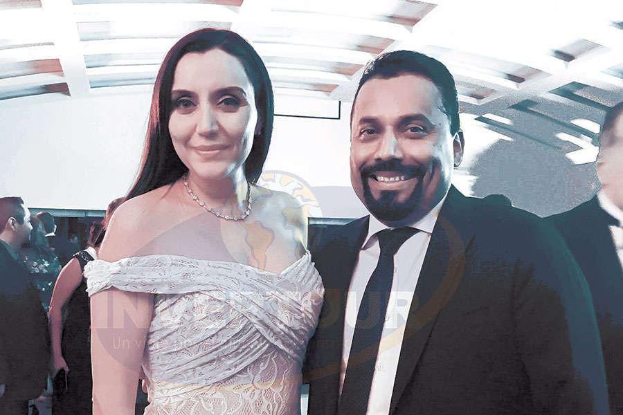 Diana Olivares con Fidel Ovando