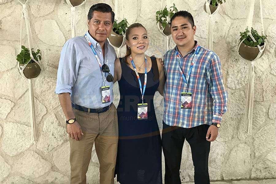 Víctor Álvarez, Stephanie Álvarez y Oswaldo Pérez