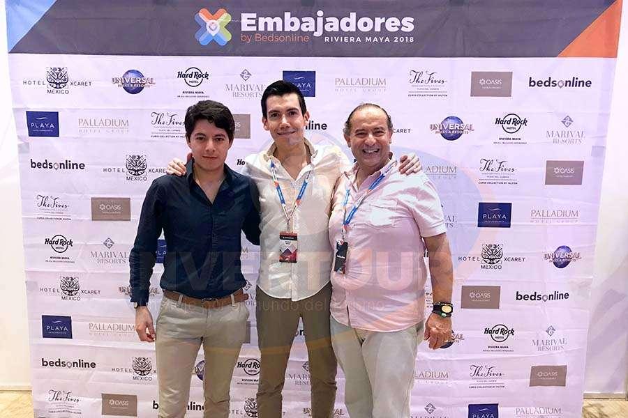 Ángel Blas, Ricardo Reyes y Humberto Farrera
