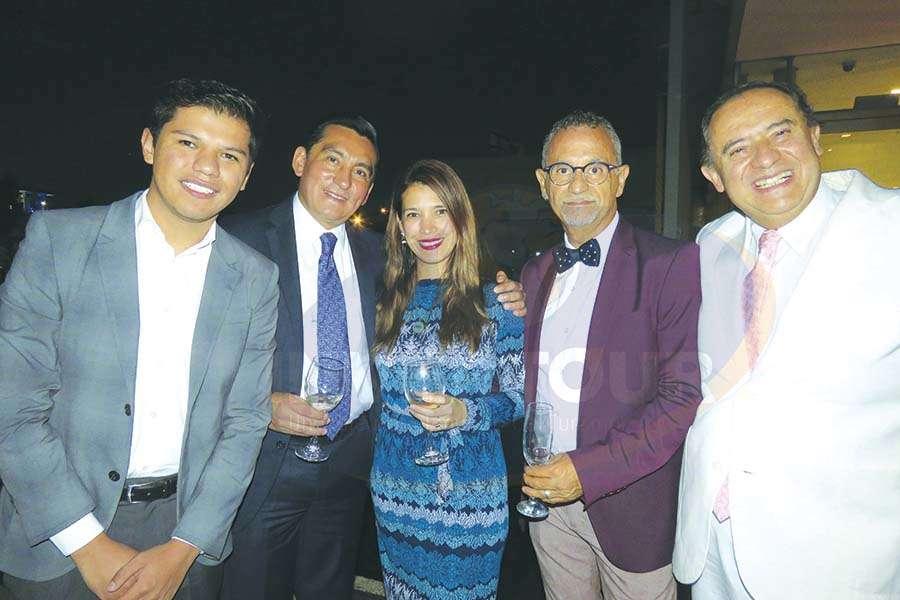 Rodrigo Betancourt, Edgar Solís, Carla Guerrero, Jaime Rogel y Humberto Farrera