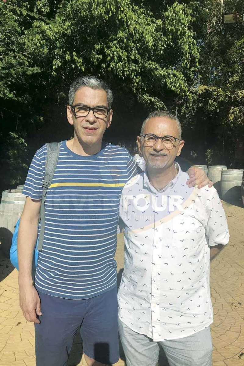 Manuel Viñas con Jaime Rogel