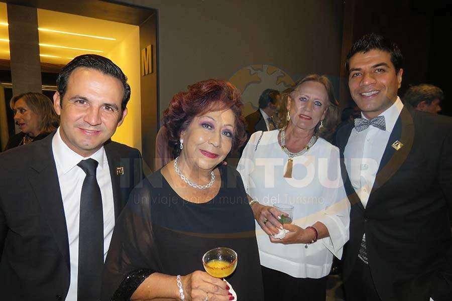 José Trauwitz, Concheta Chiquini, María Cristina Remacha y Jorge Flores