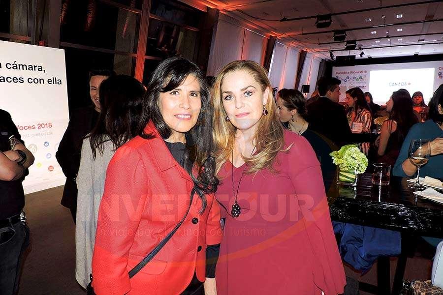 Mariel Medina con Magda Bermea