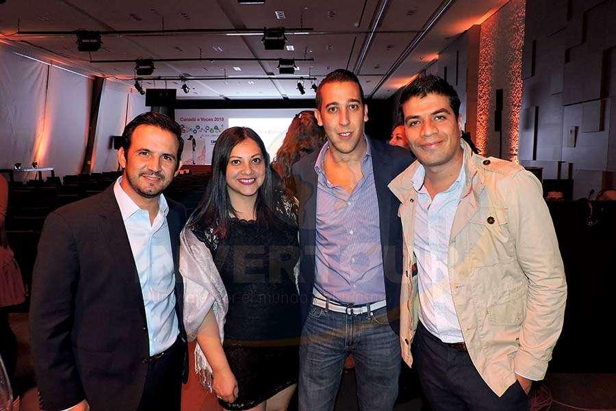 José Trauwitz, Verónica Correa, Luis Sánchez y Jorge Flores