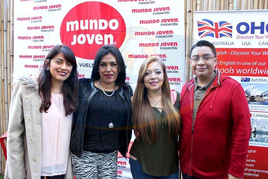 Sandra Chávez, Guadalupe Juárez, Stephanie Álvarez y Óscar Ruiz