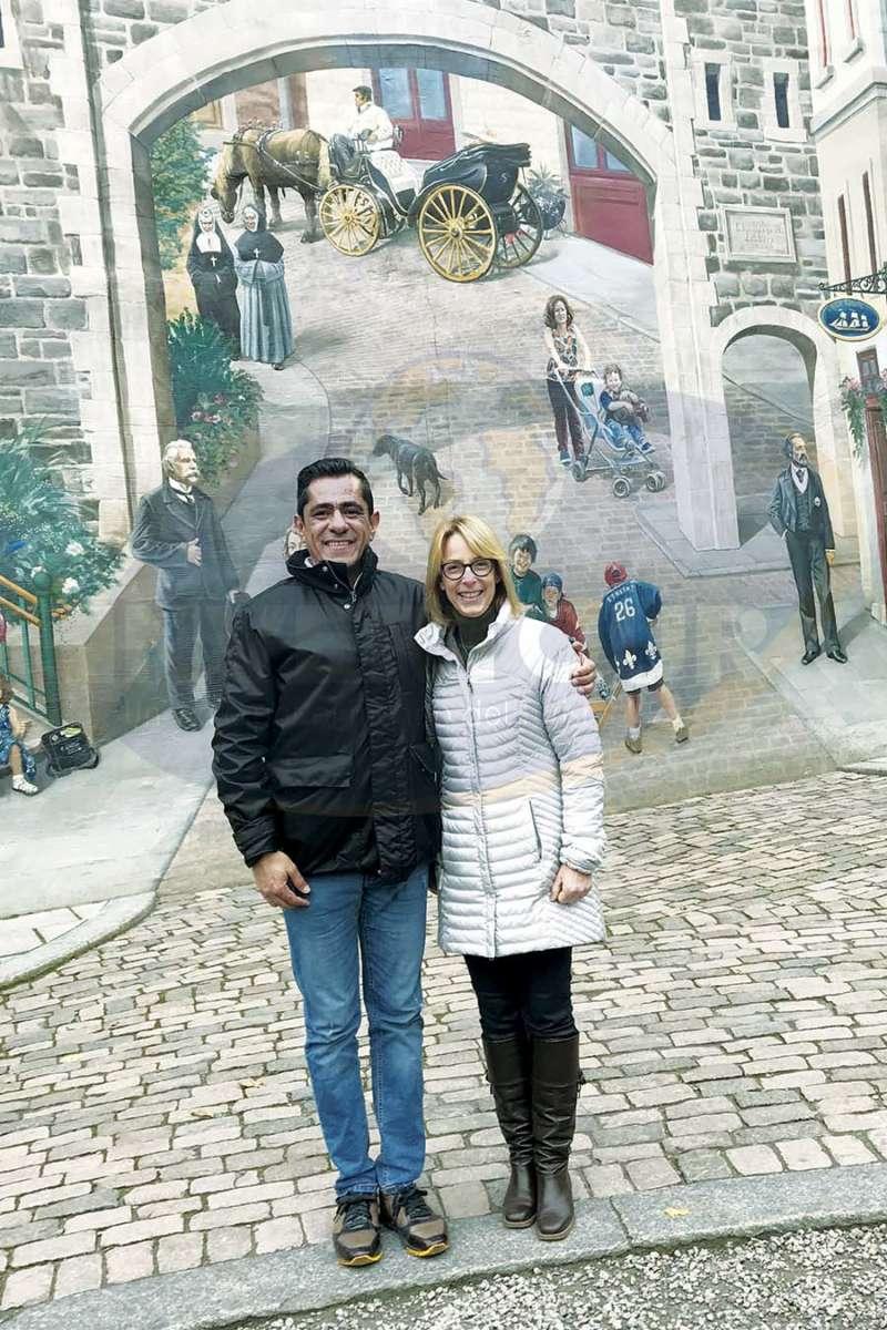 Jorge Garay con Paule Bergeron