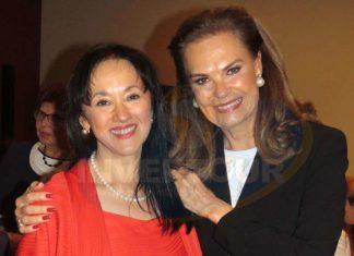 Yarla Covarrubias con Gloria Garza de Torruco