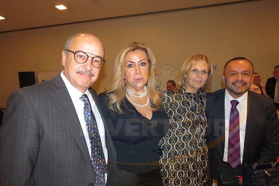 José Manuel Díaz de Rivera, Magdalena Saldivar, Begoña Fernández y Miguel Galicia