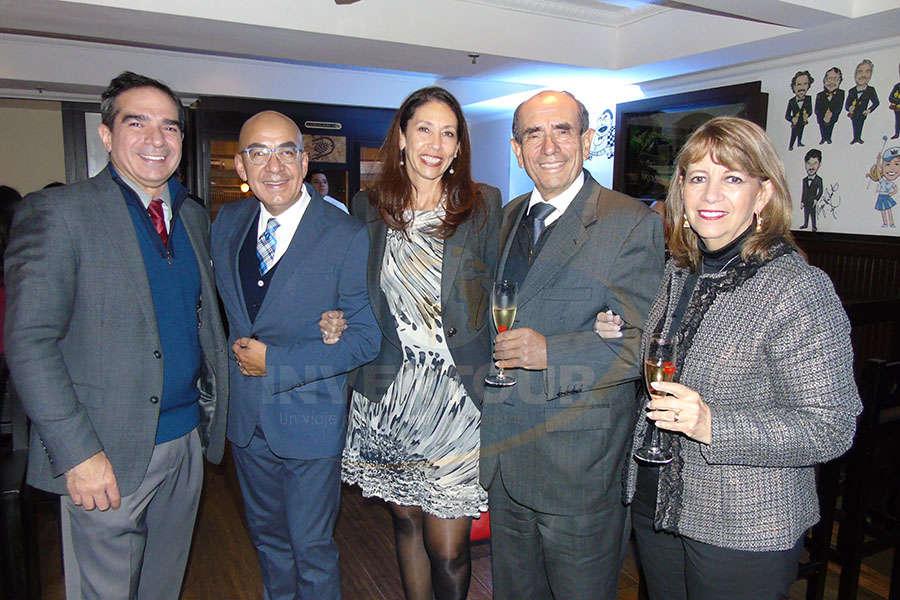 Diego Fagre, Erwin Romero, Judith Palleiro, Rodolfo y Graciela Curiel