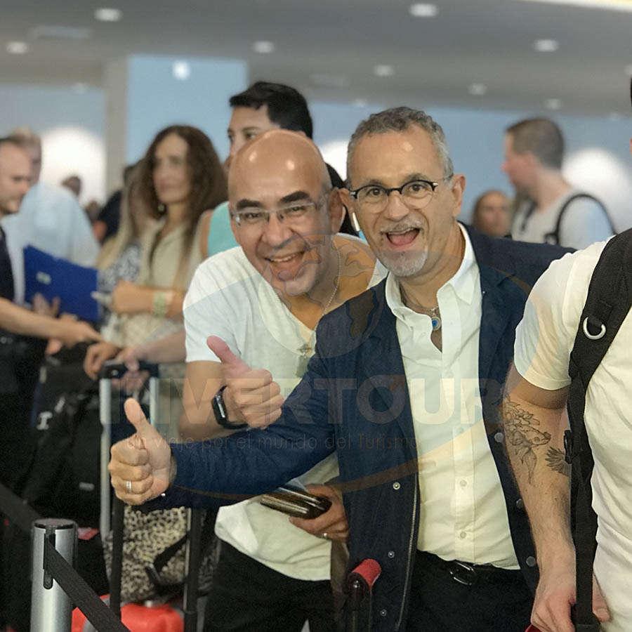 Erwin Romero con Jaime Rogel