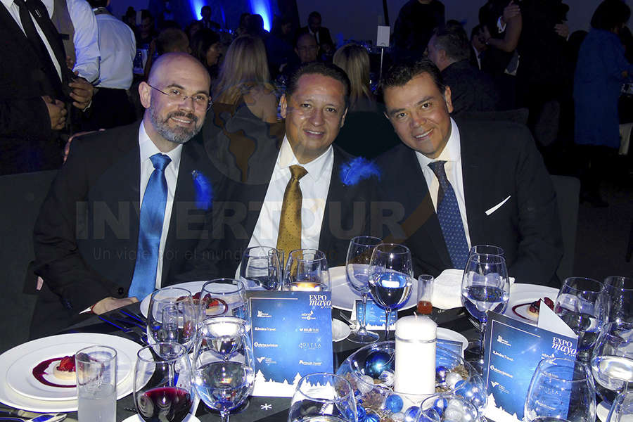 Francisco Posada, Adolfo Jiménez y Mauricio González