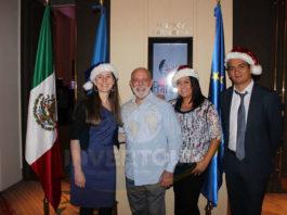 Mélanie Belin, Ángel Álvarez, Patty Torres y Camilo Abril
