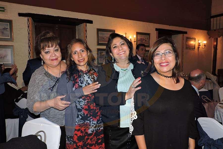 Rosy Delgado, Karelia Paralizabal, Blanca Olivera y Susana Moreno