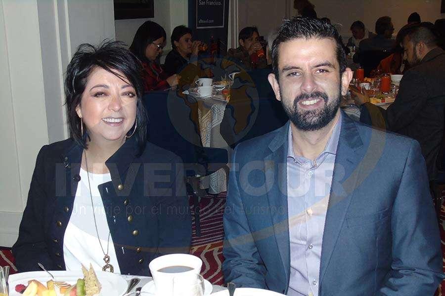 Estela Pacheco con Eduardo Barillas