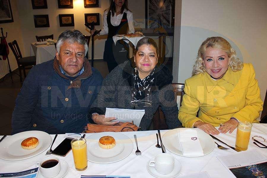 José López, Rocío Rosales y Alma Curiel