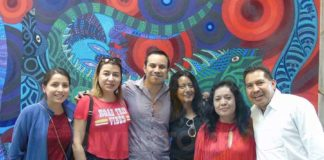 Paulina Toledo, Minerva Hernández, Hendrick Enciso, Patty Torres, Norma Castañeda y Jacobo Ángeles