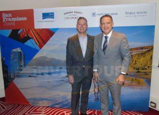 Joe D'Alessandro, CEO de San Francisco Travel Association, con Alex Pace, director general de Global Marketing & Sales y representante de San Francisco en México