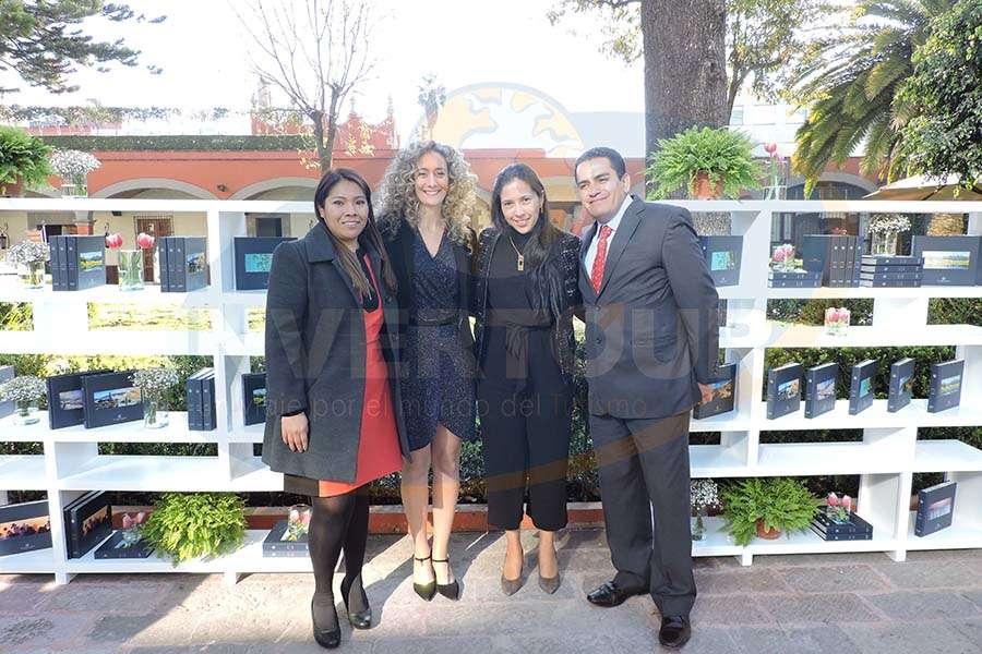 Elizabeth Nicolás, Daniela Shayo, Yamile Félix y Héctor Quevedo