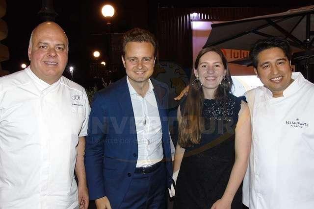 Guillermo Martínez, Guilhem Mallet, Mélanie Belin y Mourad Haddouche