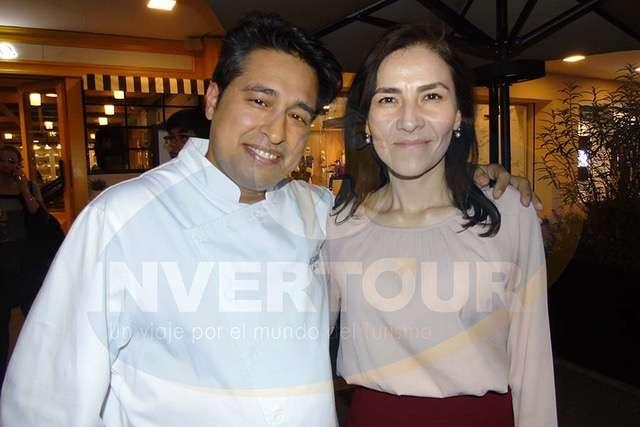 Mourad Haddouche y Helvia González