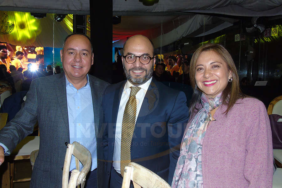 Humberto Avelar, Manlio Carpizo y Claudia González