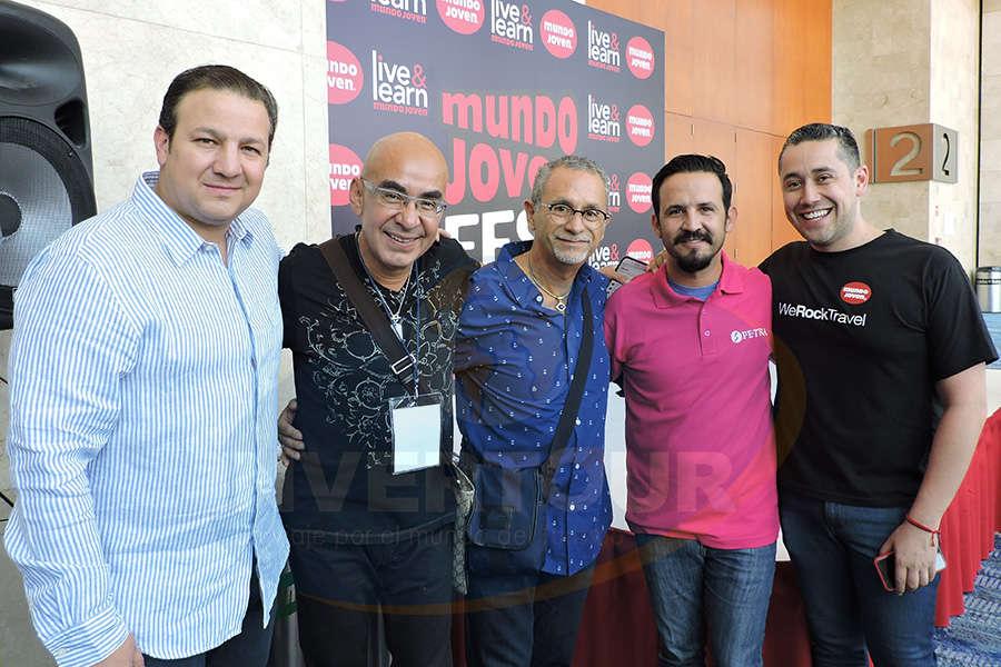 Roberto Trauwitz, Erwin Romero, Jaime Rogel, José Trauwitz y Rubén Mora