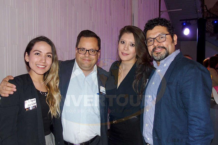 Ingrid Sánchez, Luis Carmona, Thalia Castillo y Ramiro Gómez