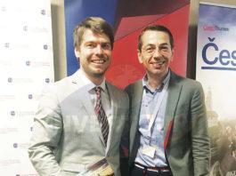 Jan Herget, director de turismo de CzechTourism con Petr Lutter, director general de CzechTourism para México y América Latina