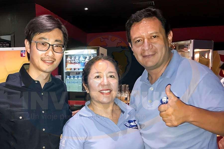 Diego Jiang, Carmen Clavijo y Pablo Vargas