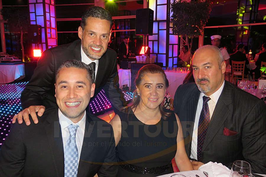 José Luis Viveros, Rubén Mora, Sylvia Esquivel y Francisco De Iturbide