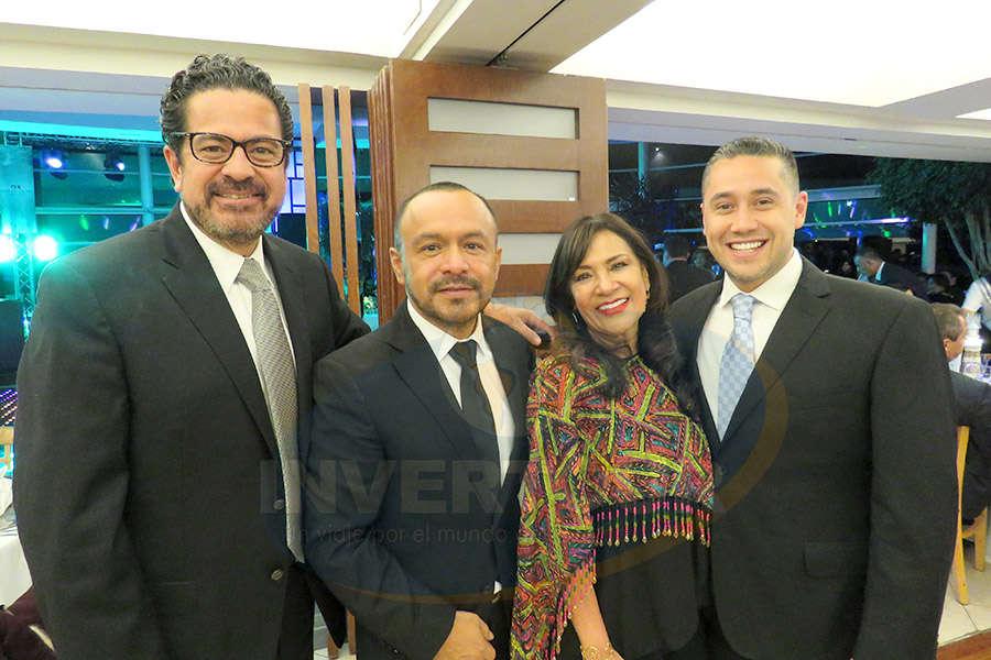 Marco Antonio Tena, Miguel Galicia, Ruth Leal y Rubén Mora